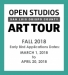 Call For Artists: 2018 Open Studios Art Tour | EARLY BIRD Applications