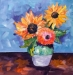 Acrylic Lesson With Hilda Vandergriff: Van Gogh Sunflowers